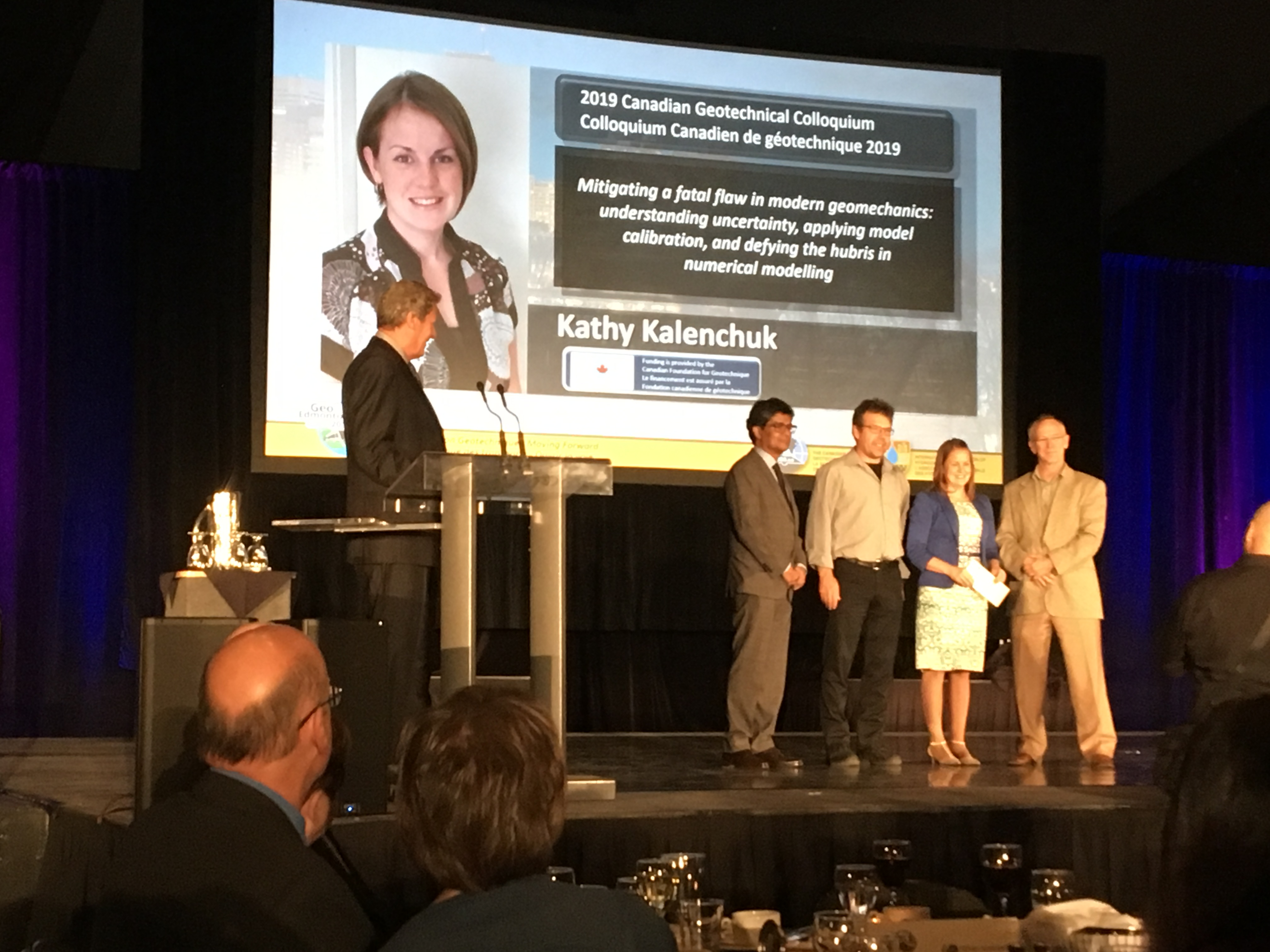 Dr. Kathy Kalenchuk Awarded 2019 Canadian Geotechnical Colloquium